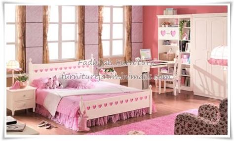 set kamar tidur anak perempuan set kamar anak minimalis