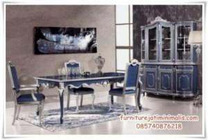 Set Kursi Makan Mewah Blue