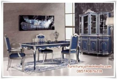 set kursi makan mewah blue,set kursi makan mewah,set kursi makan,meja kursi makan mewah,model set kursi makan mewah,set kursi makan jati,meja makan mewah,harga kursi makan