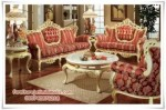 Set Sofa Tamu Mewah Victorian Red