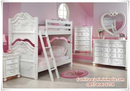 tempat tidur anak perempuan tingkat tempat tidur anak