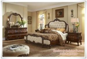 Set Tempat Tidur Jati Ukir
