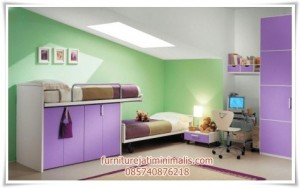 Kamar Anak Minimalis Ungu