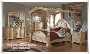 Set Kamar Tidur Kanopi Victorian Klasik