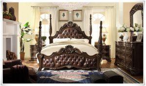Tempat Tidur Jati Black Queen