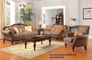 Set Sofa Tamu Jati Unique