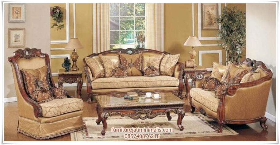 sofa tamu kayu jati model klasik sofa tamu jati sofa