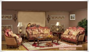 Set Kursi Sofa Tamu Jati Antik