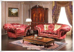 Sofa Tamu Jati Classic Red