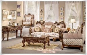 Sofa Tamu Jati Mewah Victorian Pleasing