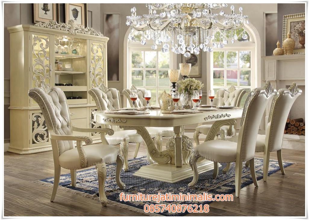kursi meja makan ukir duco, meja makan ukir, meja makan duco warna putih, contoh kursi meja makan, furniture meja kursi makan, harga meja makan kursi enam, kursi dan meja makan, kursi dan meja makan jepara, kursi makan meja bulat, kursi meja makan bundar
