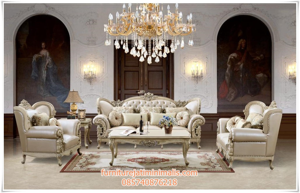 Kursi tamu sofa klasik homey kursi tamu sofa mewah sofa for Sofa klasik