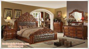 Tempat Tidur Set Jati Model Klasik Modern