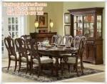 Set Kursi Makan Mahogany Vintage