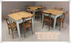 Kursi Makan Restoran Model Rustic
