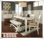 Kursi Makan Set Warna Putih