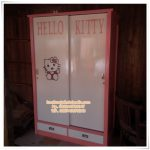 Lemari Sliding Anak Hello Kitty