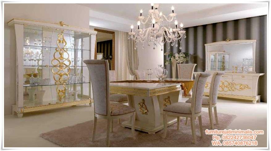 set kursi meja makan mewah charming