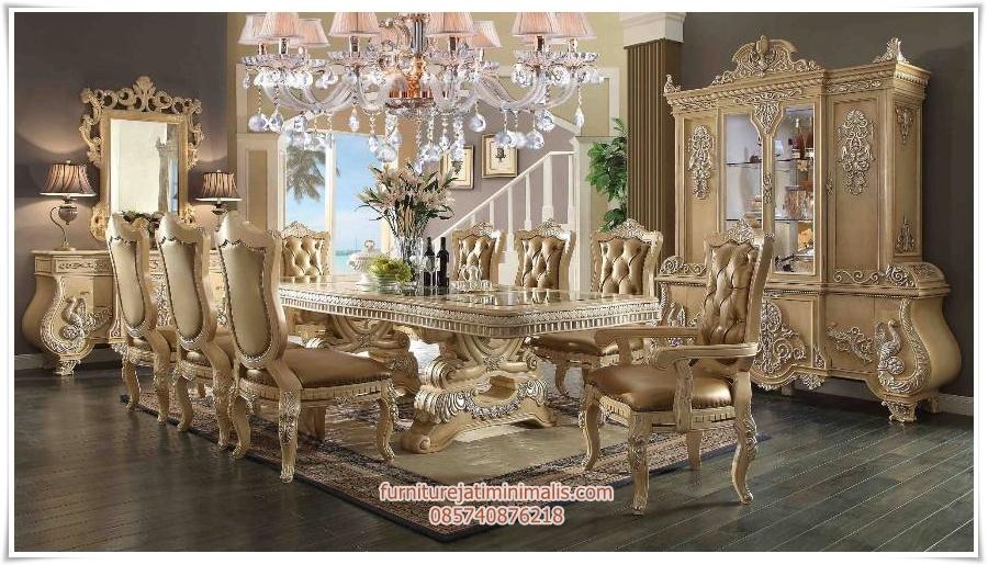 set kursi makan ukir mewah palace, set kursi makan ukiran, set kursi makan ukiran mewah, set kursi makan ukir jepara, set kursi makan ukiran jepara, kursi makan jati mewah, meja makan ukir mewah, meja makan mewah modern, meja makan mewah, harga meja makan mewah