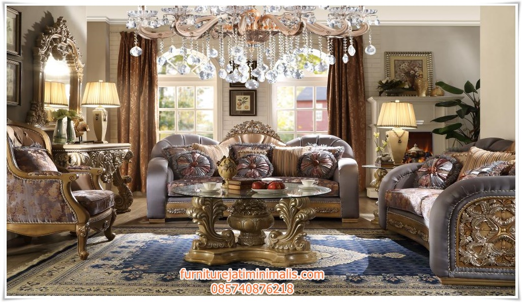 Sofa Ruang Tamu Klasik Terbaru Mewah