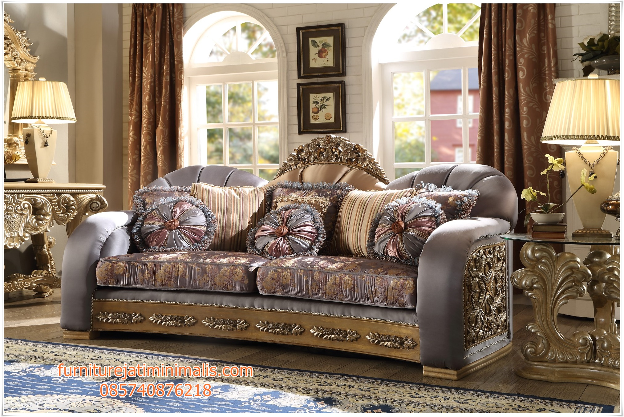 Sofa Mewah Ruang Tamu Klasik Model Untuk